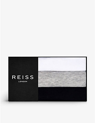 REISS: Bless cotton-jersey T-shirt set of three