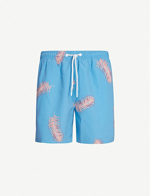 REISS Fimi floral-print swim shorts