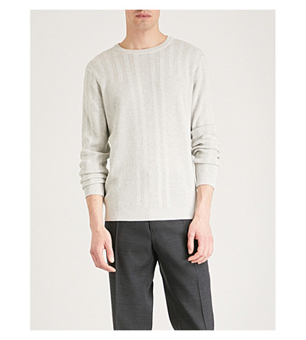 Reiss Granville cotton-knitted sweater
