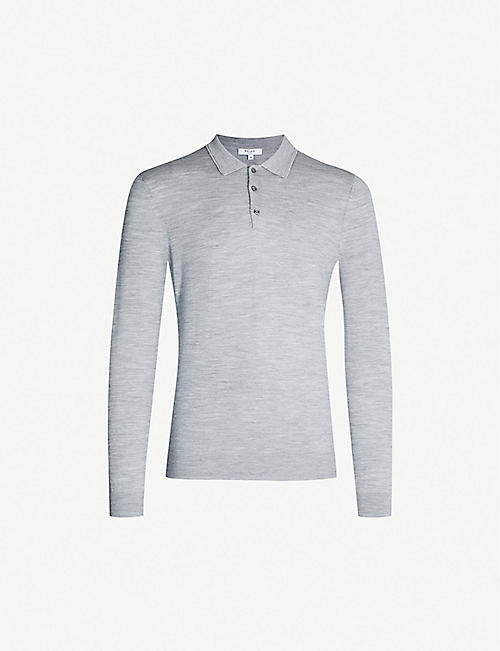 REISS Trafford wool-knit polo shirt