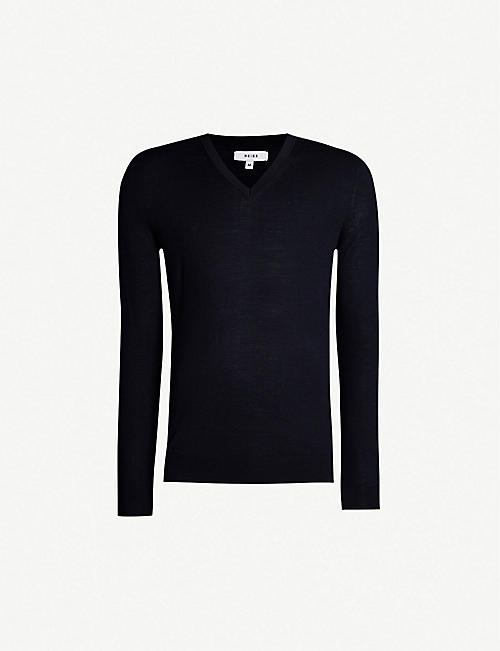 REISS Earl merino wool jumper