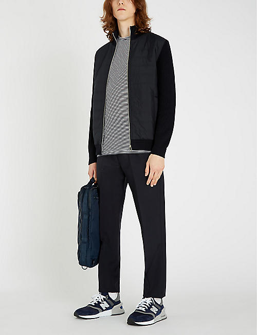 REISS Trainer zip-up cotton-blend shell jacket