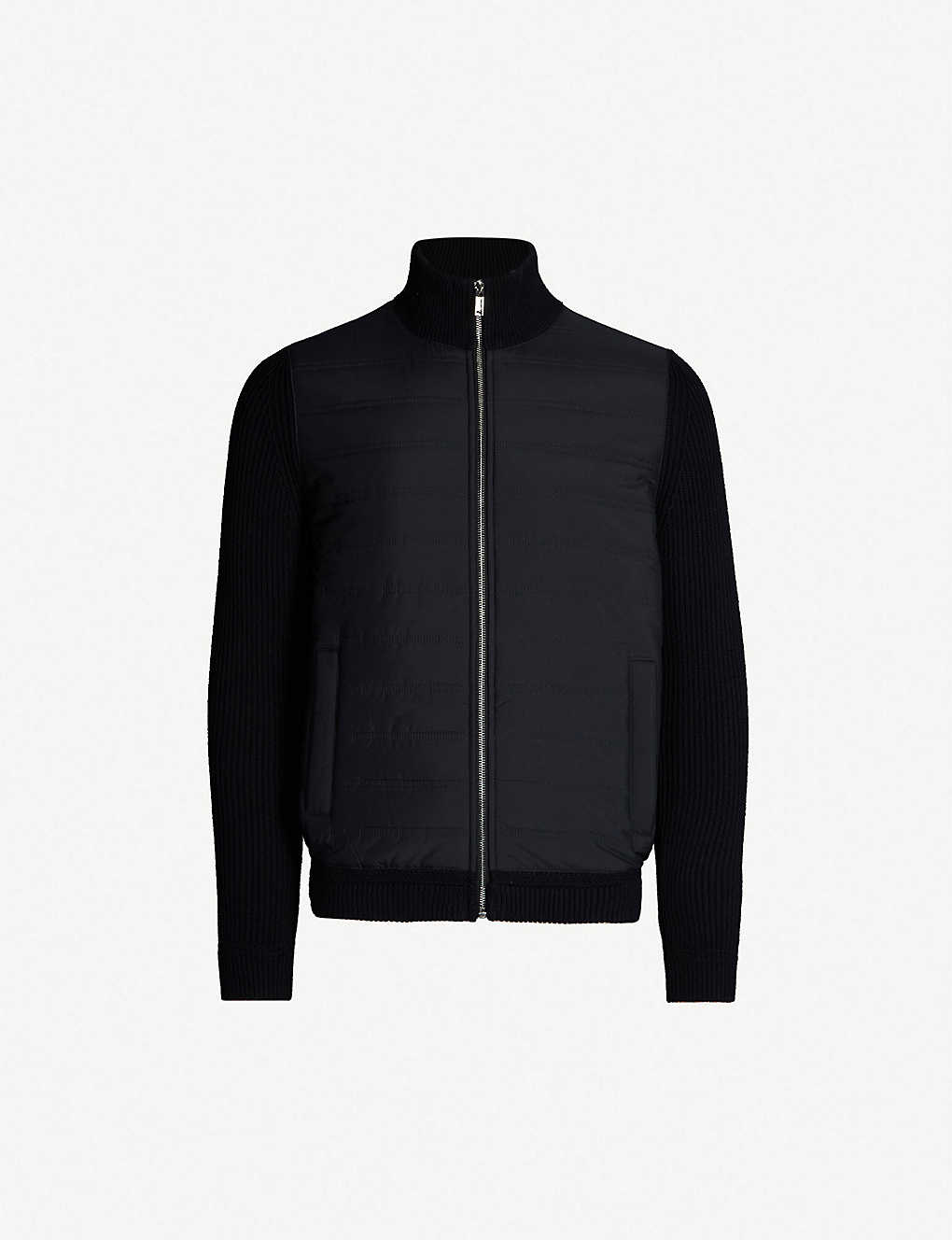 REISS: Trainer zip-up cotton-blend shell jacket