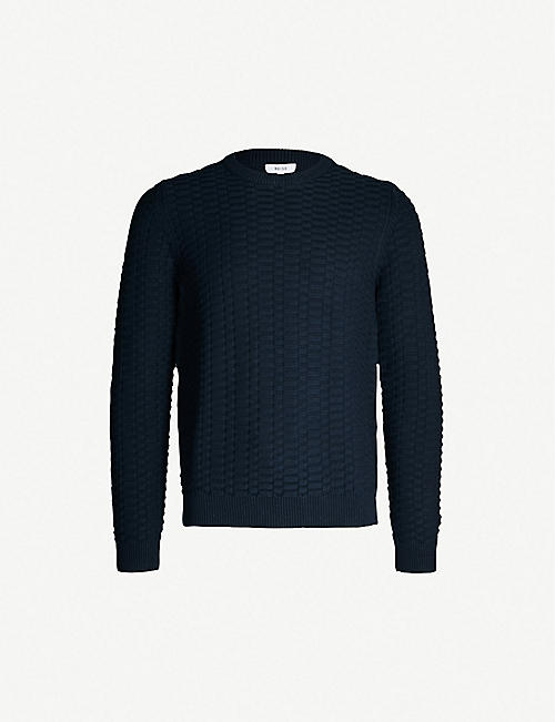 REISS Barton crewneck cotton jumper
