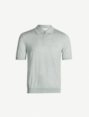REISS Maxwell wool polo shirt