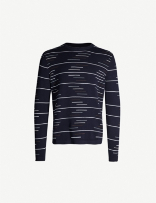 REISS Oswold cotton-knit jumper