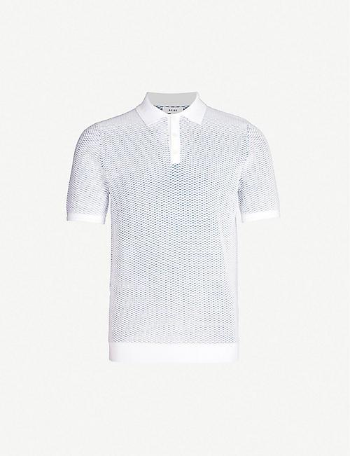 fc4812973fd03 REISS Holden textured cotton-knit polo shirt