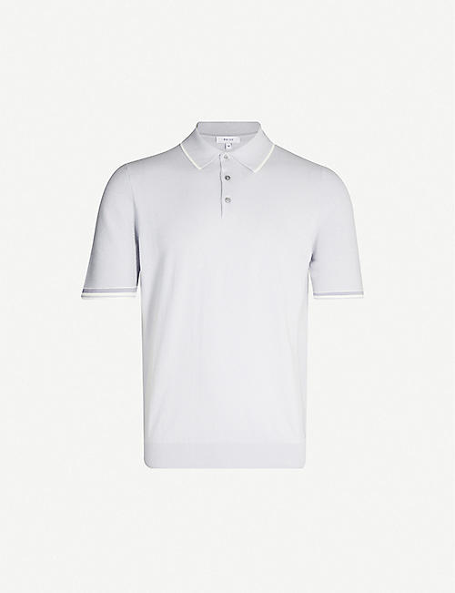 ef06aed578a6e REISS Marsden contrast-trim cotton and wool-blend polo shirt