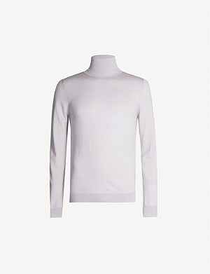 REISS Caine rollneck merino wool jumper