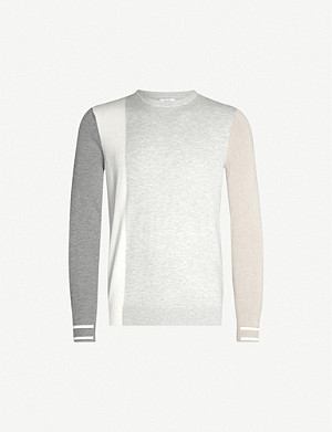 REISS Simmy colour-blocked knitted jumper