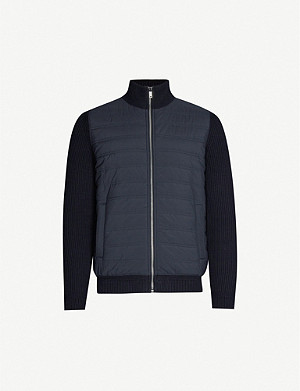 REISS Trainer zipped knitted jacket