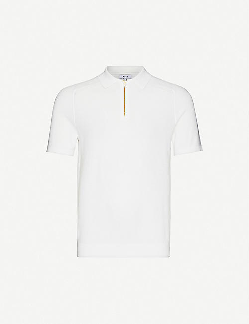 REISS Airdale cotton-knitted polo shirt