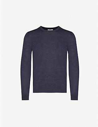 REISS: Wessex crewneck wool jumper