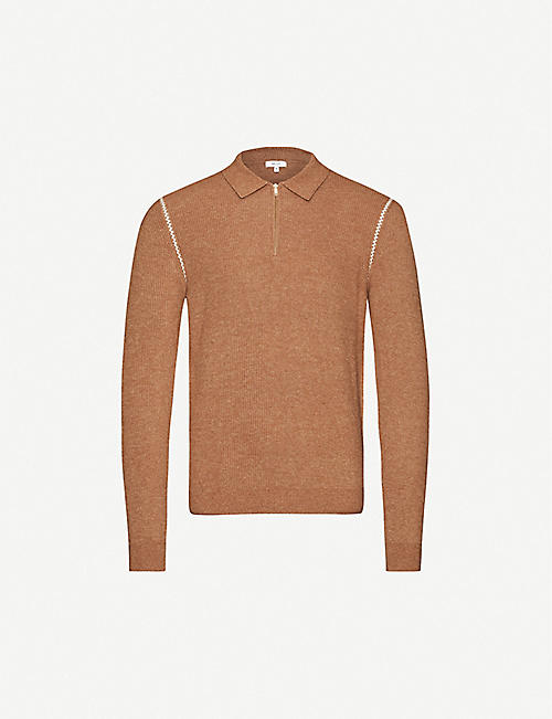 REISS Maximo knitted polo shirt