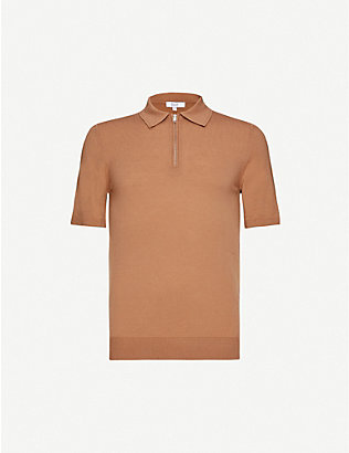 REISS: Maxwell merino wool polo shirt