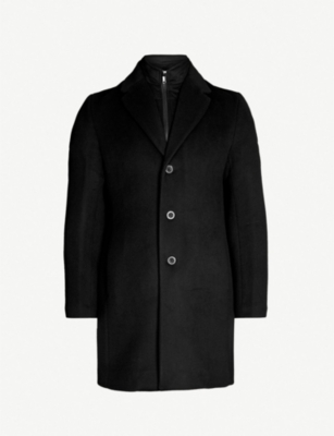 REISS Picton layered wool-blend coat