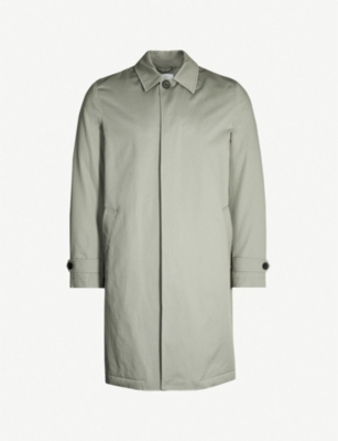 REISS Toyomasa shell cotton trench coat