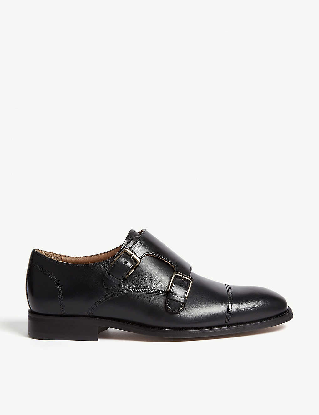 f5d260346ce REISS - Leicester leather double-monk shoes | Selfridges.com