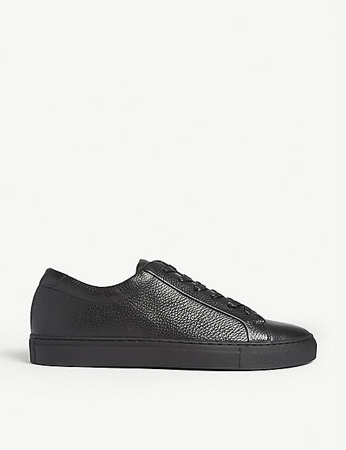cf58c976c713 REISS Darren low-top leather trainers