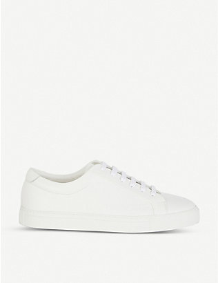 REISS: Darren leather trainers
