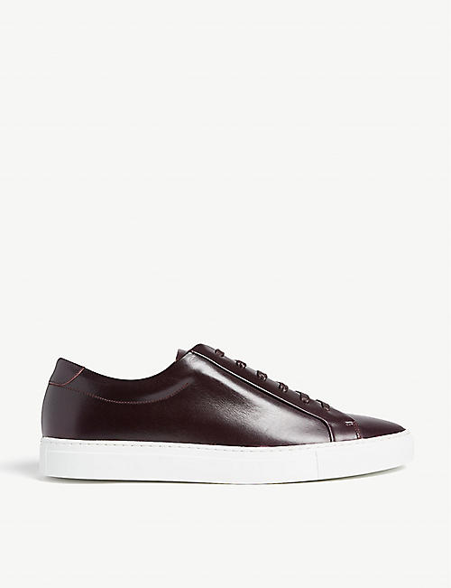 305b6ea6f13 REISS Darren low-top leather trainers