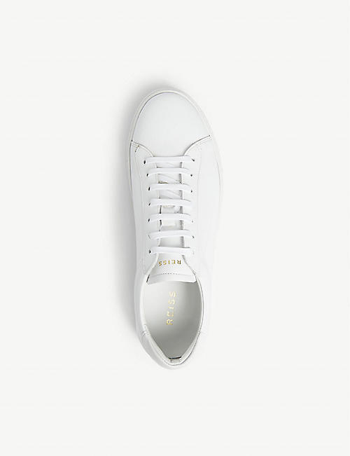 REISS Finley leather trainers