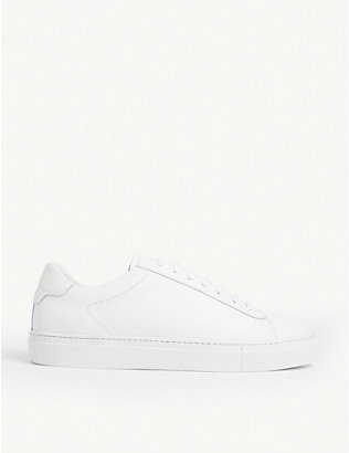 REISS: Finley leather trainers