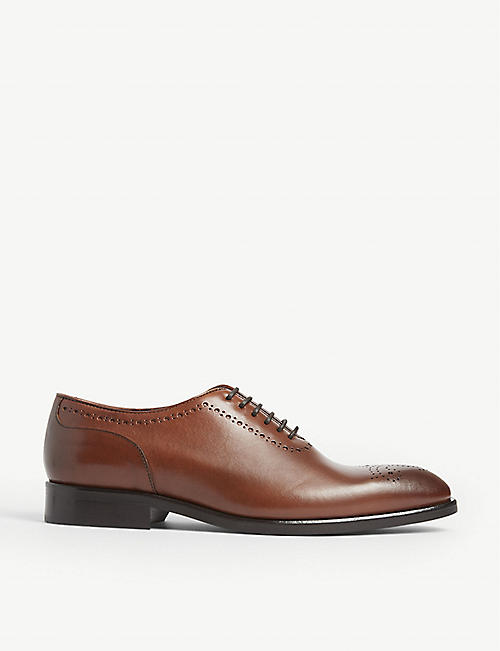 REISS Alder whole cut leather brogues