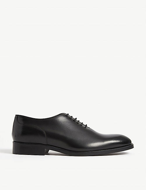 REISS: Bay lace up leather shoes