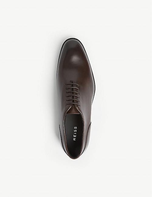 REISS Bay lace up leather shoes