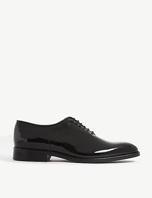 REISS: Bay patent leather shoes