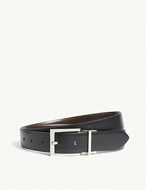 REISS Ricky reversible leather belt