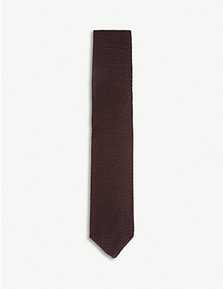 REISS: Jackson knitted silk tie