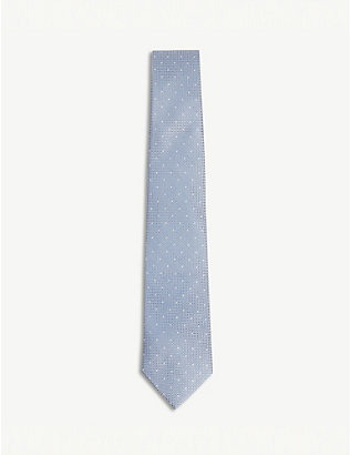 REISS: Liam polka dot silk tie