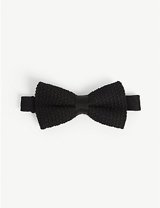 REISS: Dexter knitted silk bow tie