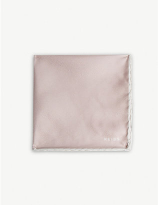REISS: Moon silk pocket square