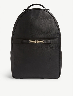 REISS Huntington leather backpack