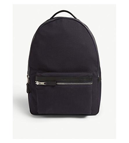Reiss Bronnman Nylon Backpack In Navy