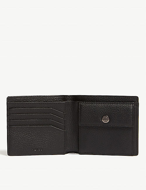 REISS Bishop leather bifold wallet