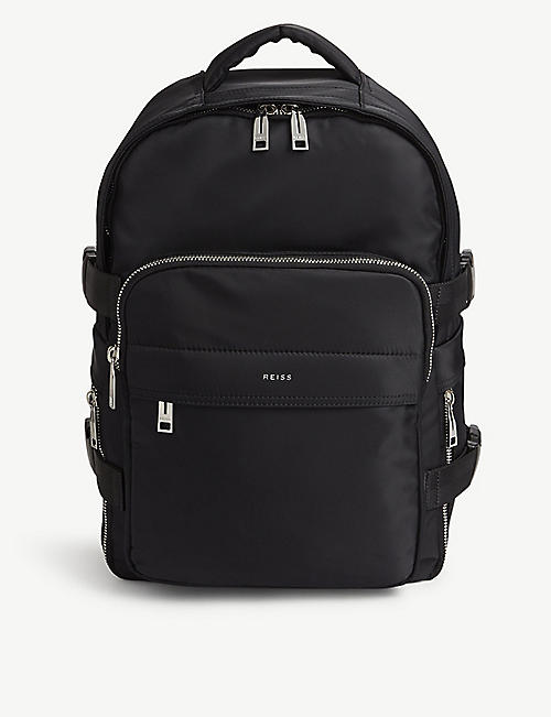 REISS Harrison nylon backpack