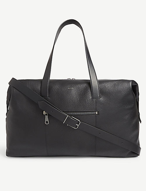 REISS Owen leather holdall