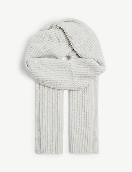 REISS Tobias cashmere knitted scarf