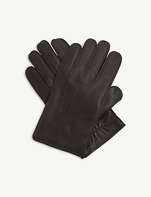REISS Iowa leather gloves