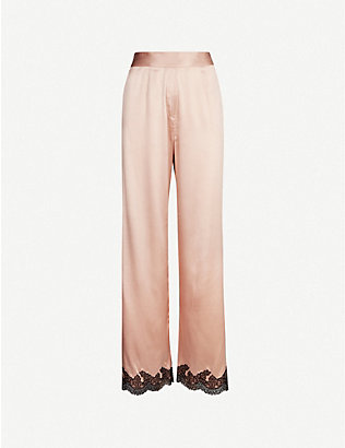 AGENT PROVOCATEUR: Amelea stretch-silk pyjama bottoms