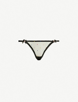AGENT PROVOCATEUR Poppie high-rise tulle thong