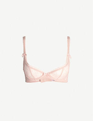 AGENT PROVOCATEUR Hinda lace and mesh bra