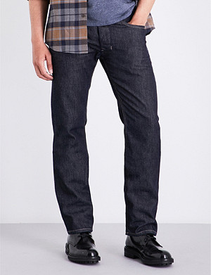 05a2a73d DIESEL - Waykee 0814W regular-fit straight cropped jeans ...