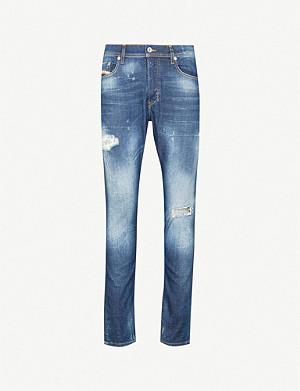 DIESEL Tepphar ripped slim carrot-fit tapered jeans