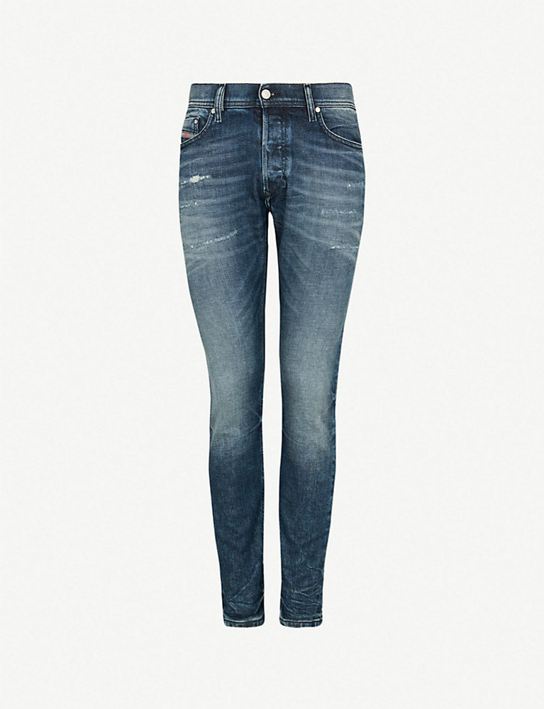 f8a289178e9 Tepphar stitch-detail slim-fit tapered jeans