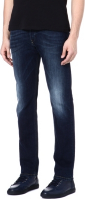 DIESEL Belther unconventional slim-fit straight jeans
